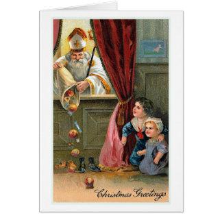 """De Vintage Kerstkaart van Kerstmis """"van de Briefkaarten 0"""