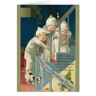 De vintage Kerstkaart van Kinderen Briefkaarten 0