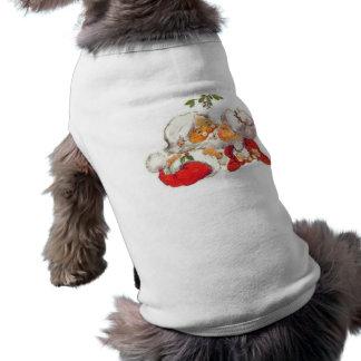 De vintage Kerstman die van Kerstmis Mevr. Claus Mouwloos Hondenshirt