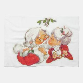 De vintage Kerstman die van Kerstmis Mevr. Claus Theedoek
