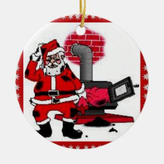 De vintage Kerstman & een Ornament van de Brander