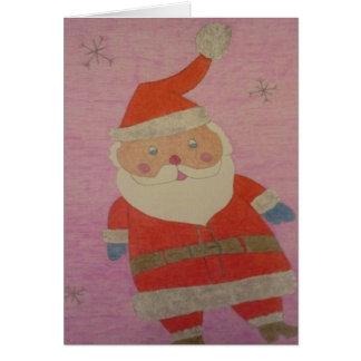De vintage Kerstman Kaart