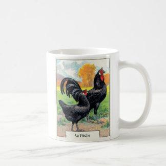De vintage Kip van La Fleche Koffiemok