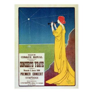 De vintage klassieke advertentie van Brussel van Briefkaart