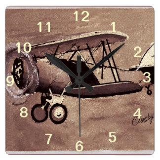 De vintage Klok van de Muur van het Vliegtuig
