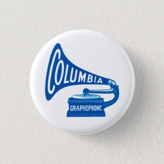 De Vintage Knoop van Colombia Graphophone Ronde Button 3,2 Cm