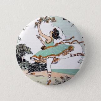 De vintage Knoop van de Balletdanser Ronde Button 5,7 Cm