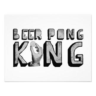De vintage Koning van Pong van het Bier