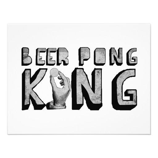 De vintage Koning van Pong van het Bier Custom Uitnodging