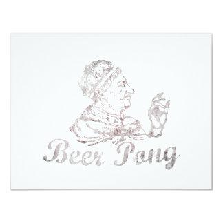 De vintage Koning van Pong van het Bier 10,8x13,9 Uitnodiging Kaart