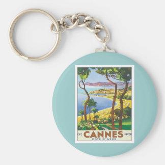 De vintage Kooi D'azur van Cannes Sleutelhanger
