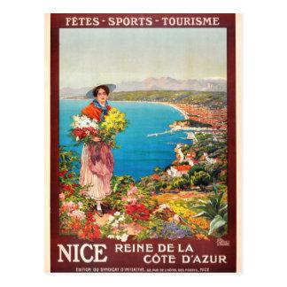 De vintage Kooi D'Azur van Nice Reine Briefkaart