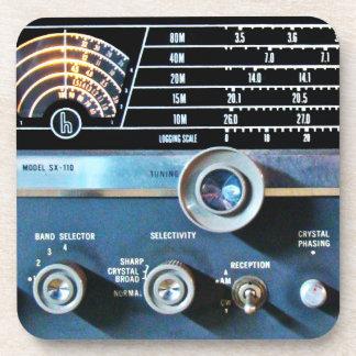 De vintage Korte RadioOntvanger van de Golf Drankjes Onderzetter