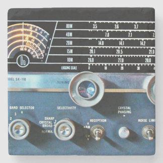 De vintage Korte RadioOntvanger van de Golf Stenen Onderzetter