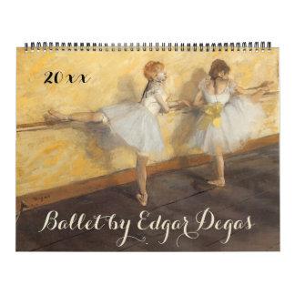 De vintage Kunst van het Ballet van het Kalender