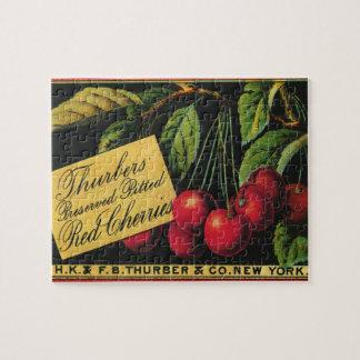 De vintage Kunst van het Etiket van het Krat van Legpuzzel
