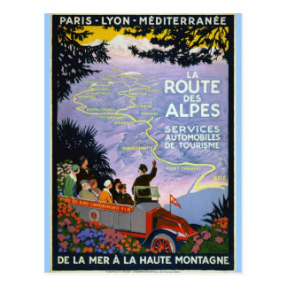 De vintage Kunst van het Poster van de Reis - La R
