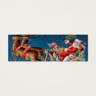 De vintage Labels van de Gift van Kerstmis van de Mini Visitekaartjes