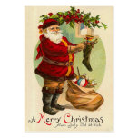 De vintage Labels van de Gift van Kerstmis Visitekaartjes Sjabloon