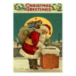 De vintage Labels van de Gift van Kerstmis Visitekaartjes