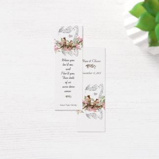 De vintage Labels van het Huwelijk van de Vogel Mini Visitekaartjes