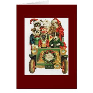 De vintage Lading van de Auto van Kerstmis van Kaart