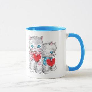De vintage Leuke Katten van de Valentijnsdag, Mok