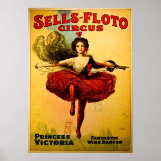 De vintage Leurder van de Draad van het Circus Poster