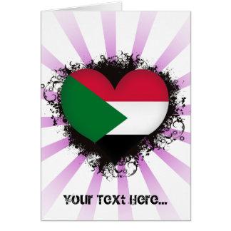 De vintage Liefde de Soedan van I Briefkaarten 0