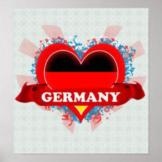 De vintage Liefde Duitsland van I Poster