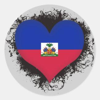 De vintage Liefde Haïti van I Ronde Sticker