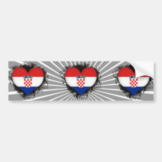 De vintage Liefde Kroatië van I Bumpersticker