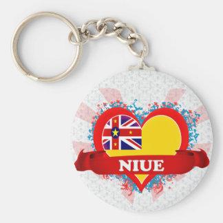 De vintage Liefde Niue van I Sleutelhanger