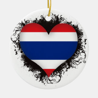 De vintage Liefde Thailand van I Rond Keramisch Ornament