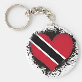 De vintage Liefde Trinidad en Tobago van I Sleutelhanger