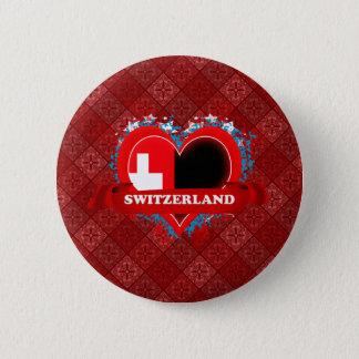 De vintage Liefde Zwitserland van I Ronde Button 5,7 Cm
