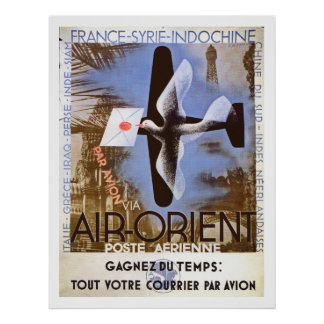 De vintage Lucht oriënteert Advertentie Poster