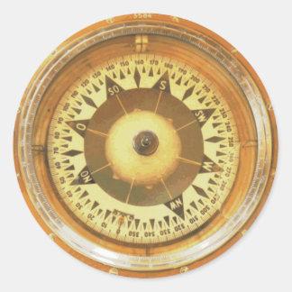 De vintage Marine van het Kompas Ronde Sticker