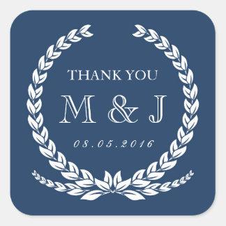 De vintage Marineblauwe Sticker van het Huwelijk
