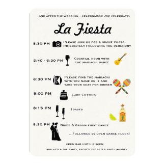 De vintage Mexicaanse Chronologie van het 12,7x17,8 Uitnodiging Kaart