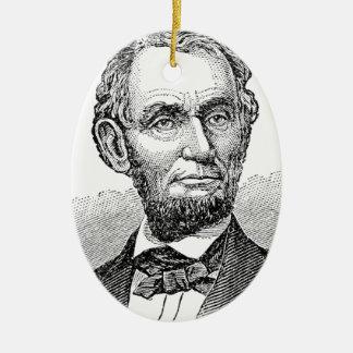 De vintage Mislukking van Abe Lincoln Keramisch Ovaal Ornament