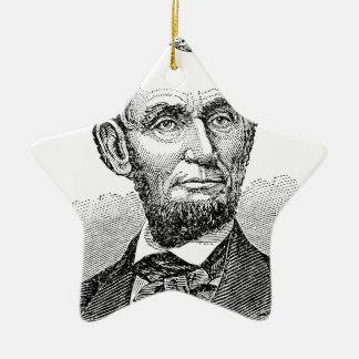 De vintage Mislukking van Abe Lincoln Keramisch Ster Ornament