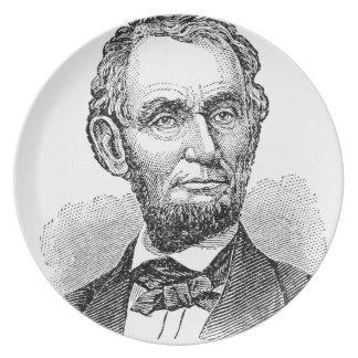 De vintage Mislukking van Abe Lincoln Melamine+bord