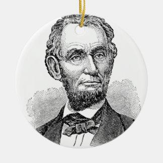 De vintage Mislukking van Abe Lincoln Rond Keramisch Ornament
