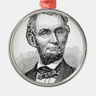 De vintage Mislukking van Abe Lincoln Zilverkleurig Rond Ornament