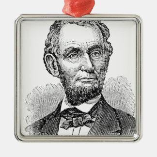De vintage Mislukking van Abe Lincoln Zilverkleurig Vierkant Ornament