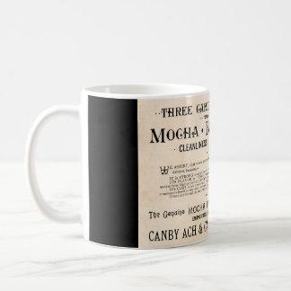 De vintage Mok van de Advertentie van de Koffie