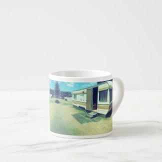 De vintage Mok van de Koffie, de Caravan van de