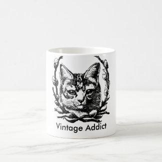 De vintage Mok van de Koffie van de Kat
