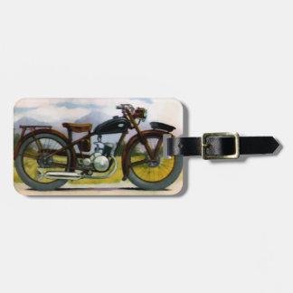 De Vintage Motorfiets van de waterverf Bagagelabel